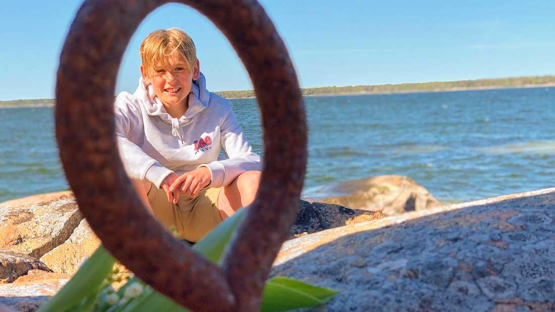 Hannes Ahlborg från Storvreta, en av hjältarna.