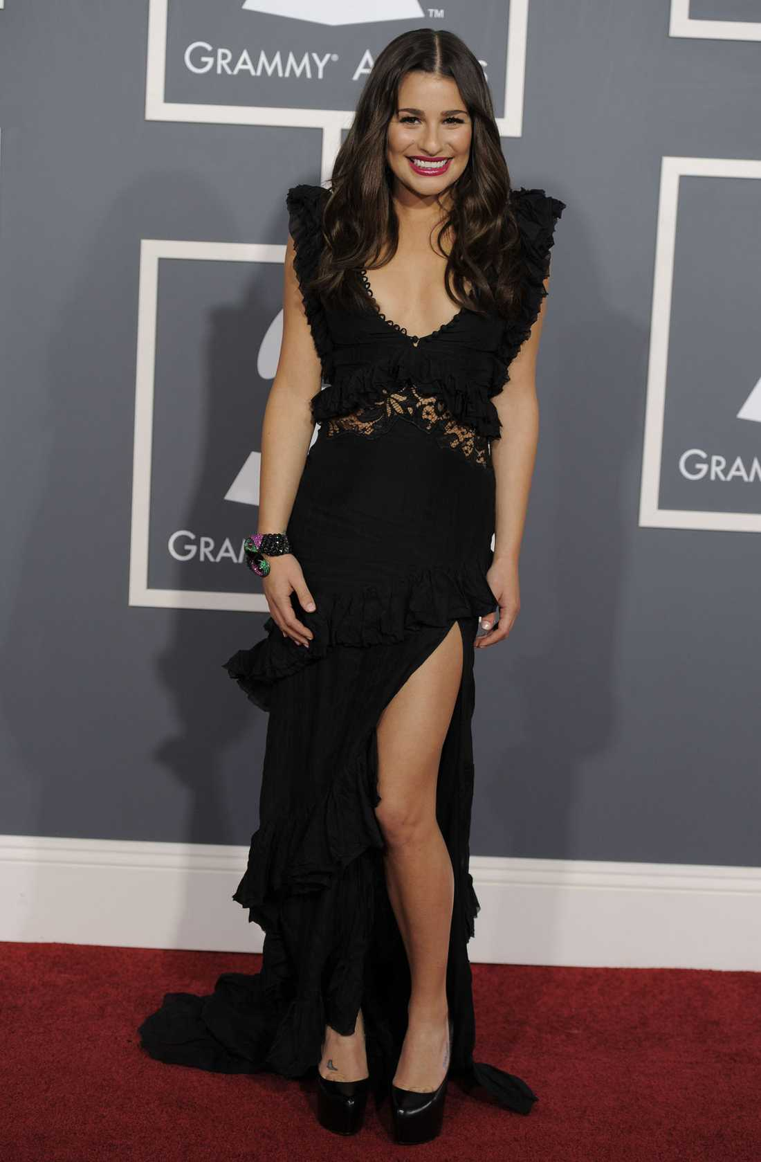 Lea Michele var söt i klänning från Emilio Pucci.
