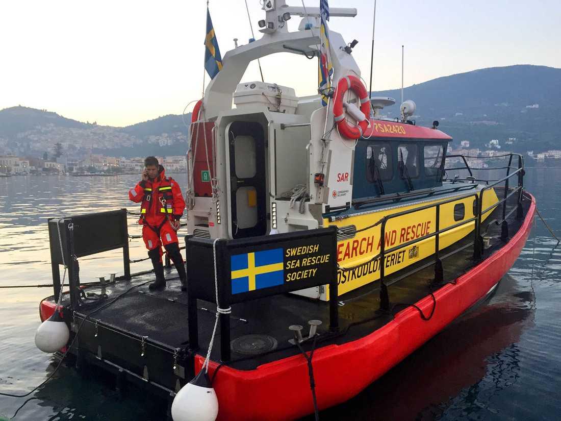En av Gula båtarna i Medelhavet.