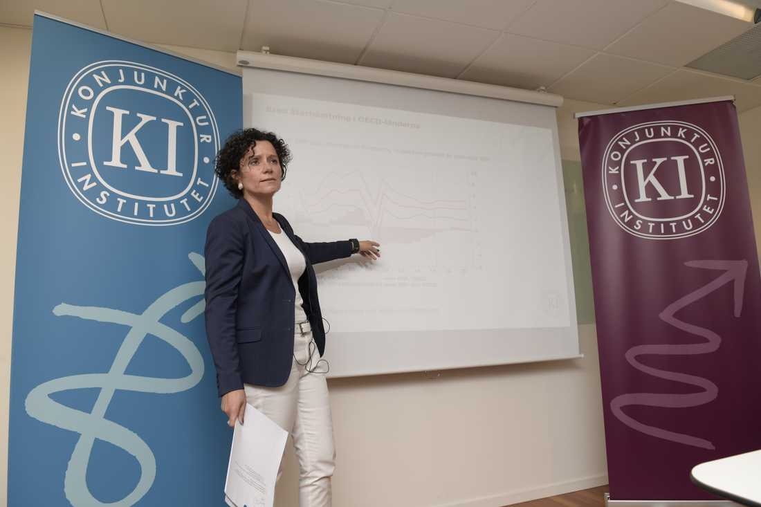 Konjunkturinstitutets prognoschef Ylva Hedén Westerdahl. Arkivbild.
