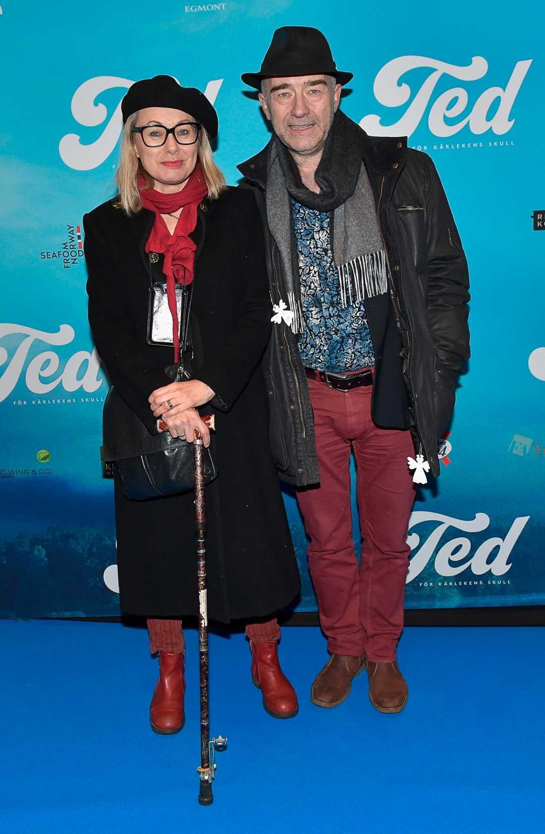 Louise Hoffsten och maken Dan Bratt.