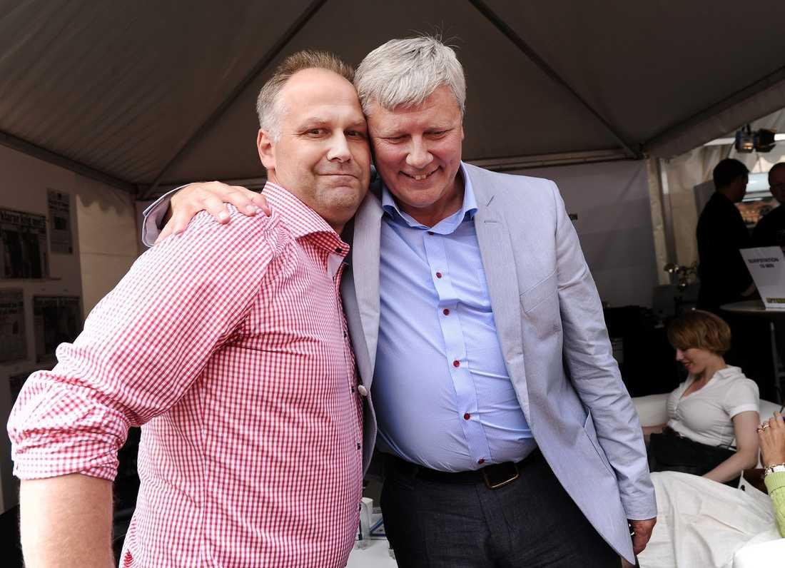 EFTERTRÄDAREN? Jonas Sjöstedt passade på under Vänsterpartiets dag i Almedalen att (för andra gången) avslöja att han tänker kandidera som partiledare för Vänsterpartiet under kongressen om sju månader.
