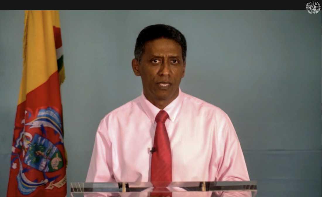 Seychellernas president Danny Faure förlorar makten till oppositionen. Arkivbild.
