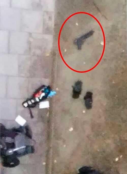 Leksakspistolen Eric höll i när han blev ihjälskjuten.