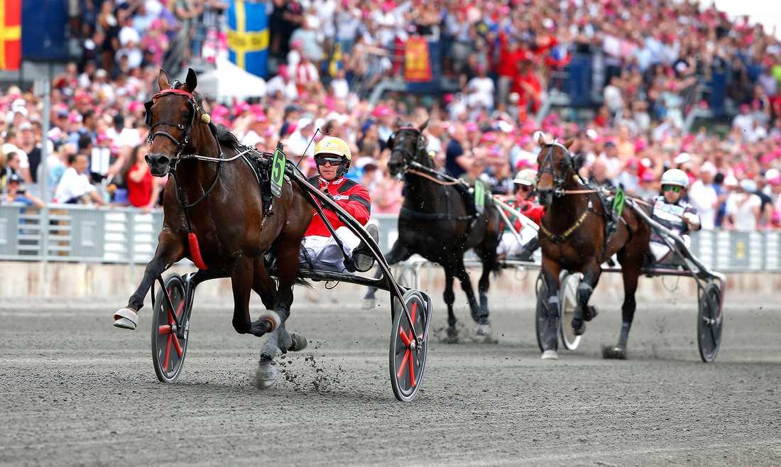 Bold Eagle och Franck Nivard i Elitloppet 2017.