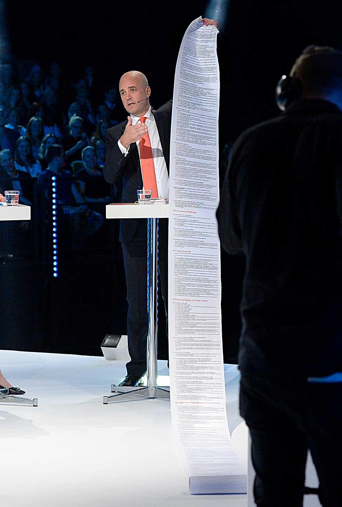 Fredrik Reinfeldts lista.