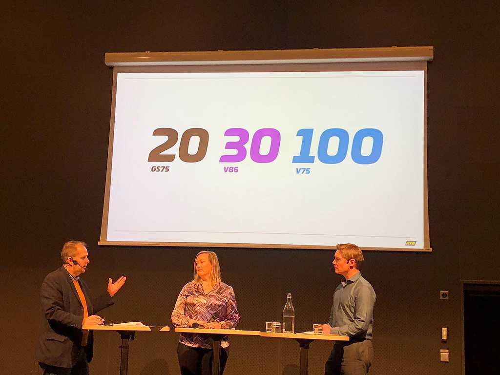 ATG:s vd Hasse Skarplöth visade upp framtidsmålen för spelformerna V75, V86 och Grand Slam 75.