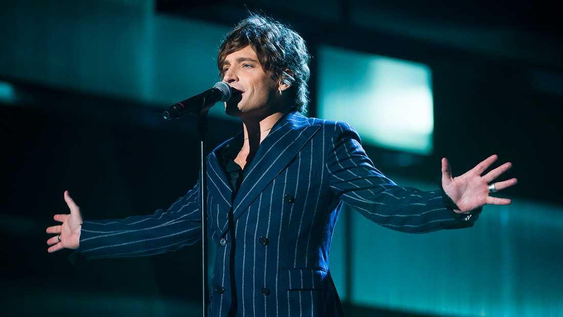 Andreas Johnson i Melodifestivalen 2015.