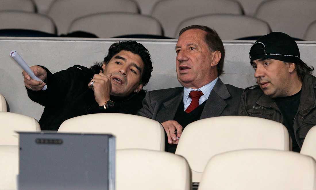 Maradona tillsammans med