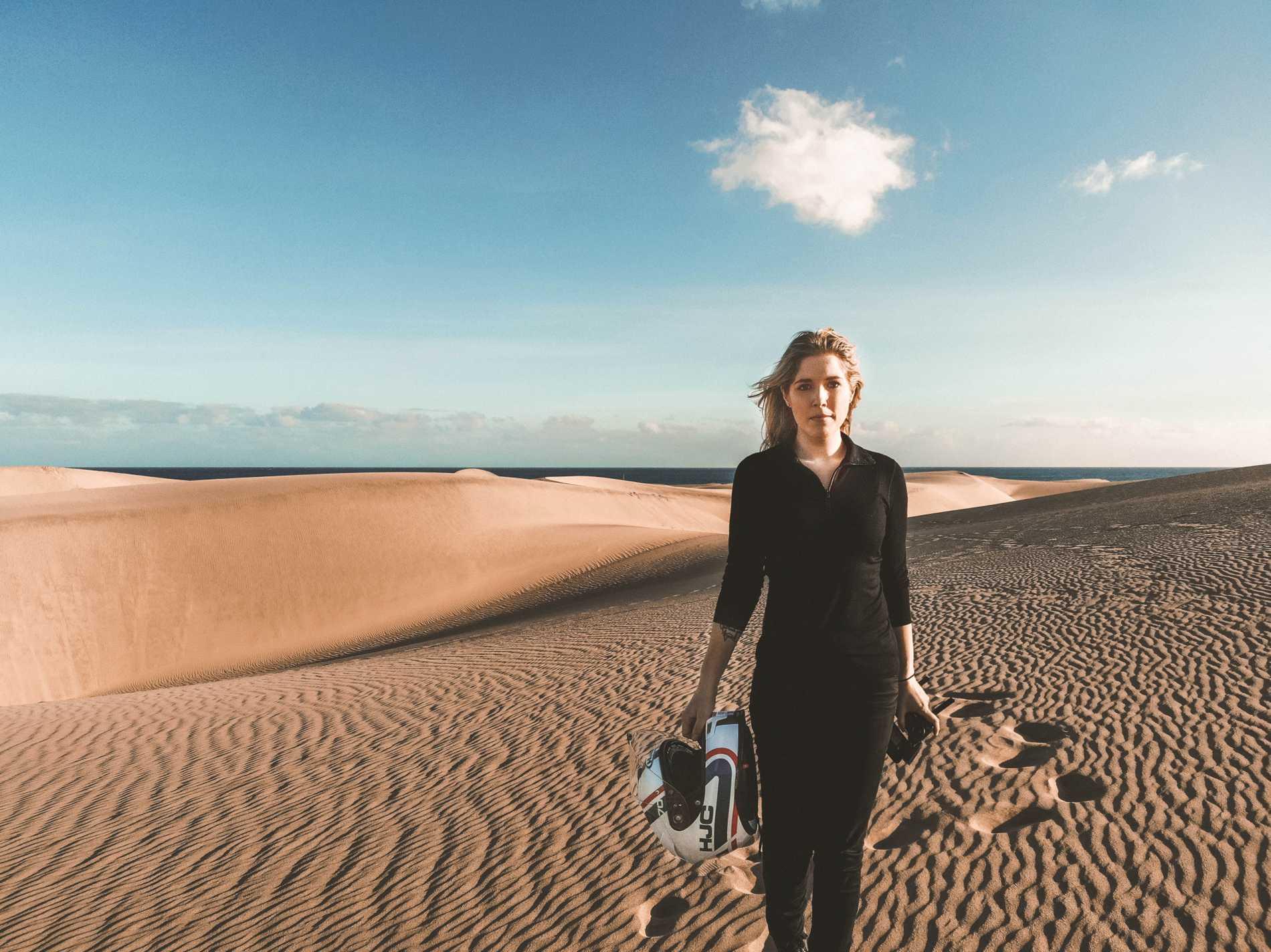 """Resan till Gran Canaria överraskade Hanna: """"Jag har alltid trott att det är dit pensionärer åker för att sitta på stora hotell. Men det är riktigt häftigt""""."""