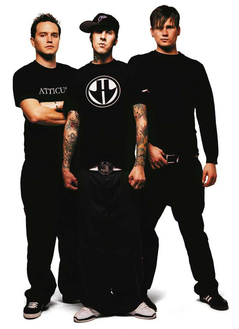 Blink-182: Mark Hoppus, Tom DeLonge och Travis Barker.