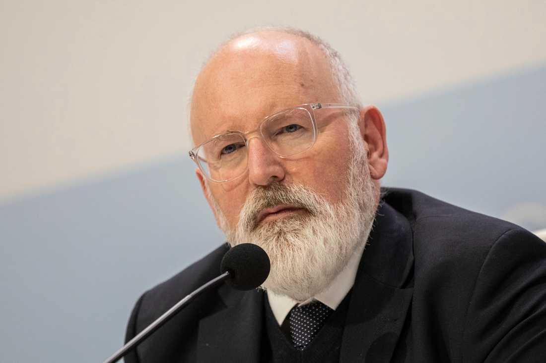 EU-kommissionens förste exekutive viceordförande Frans Timmermans är ansvarig för EU:s kamp mot klimatförändringarna. Arkivfoto.