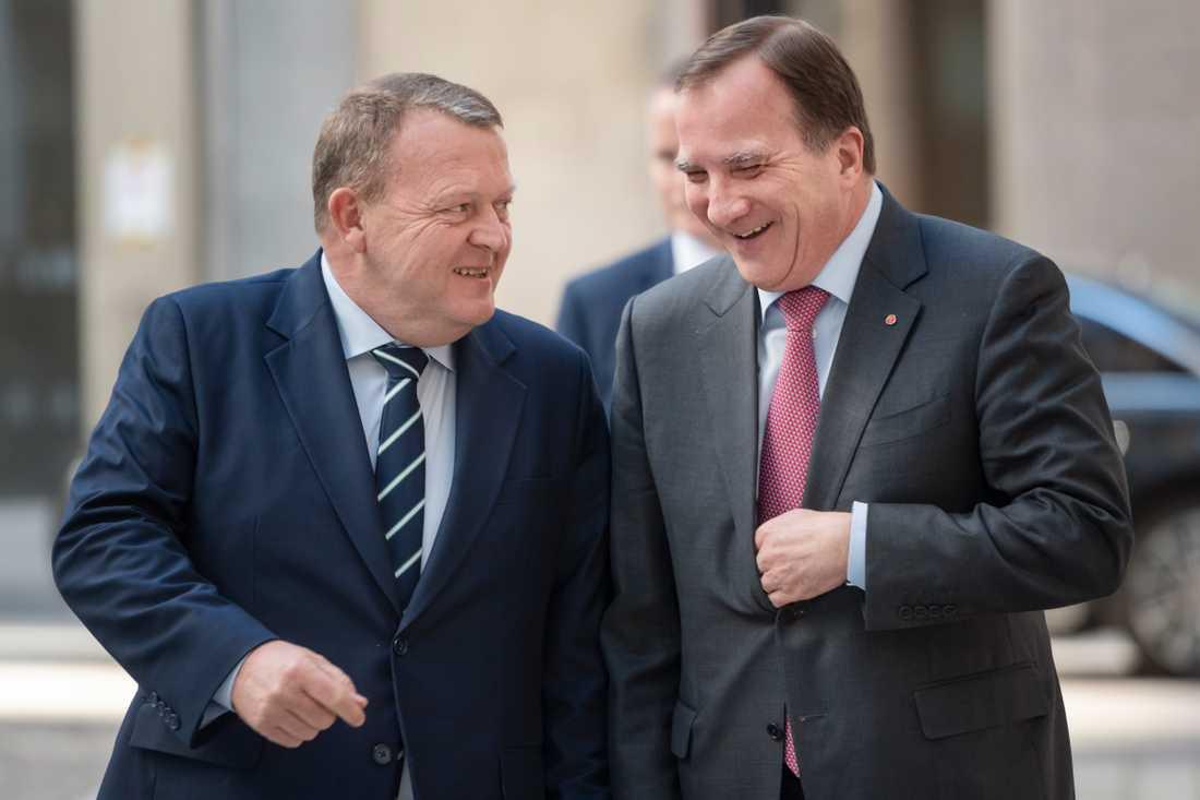 Danmarks statsminister Lars Løkke Rasmussen (Venstre) träffade sin svenske kollega Stefan Löfven (S) i Stockholm på onsdagen.