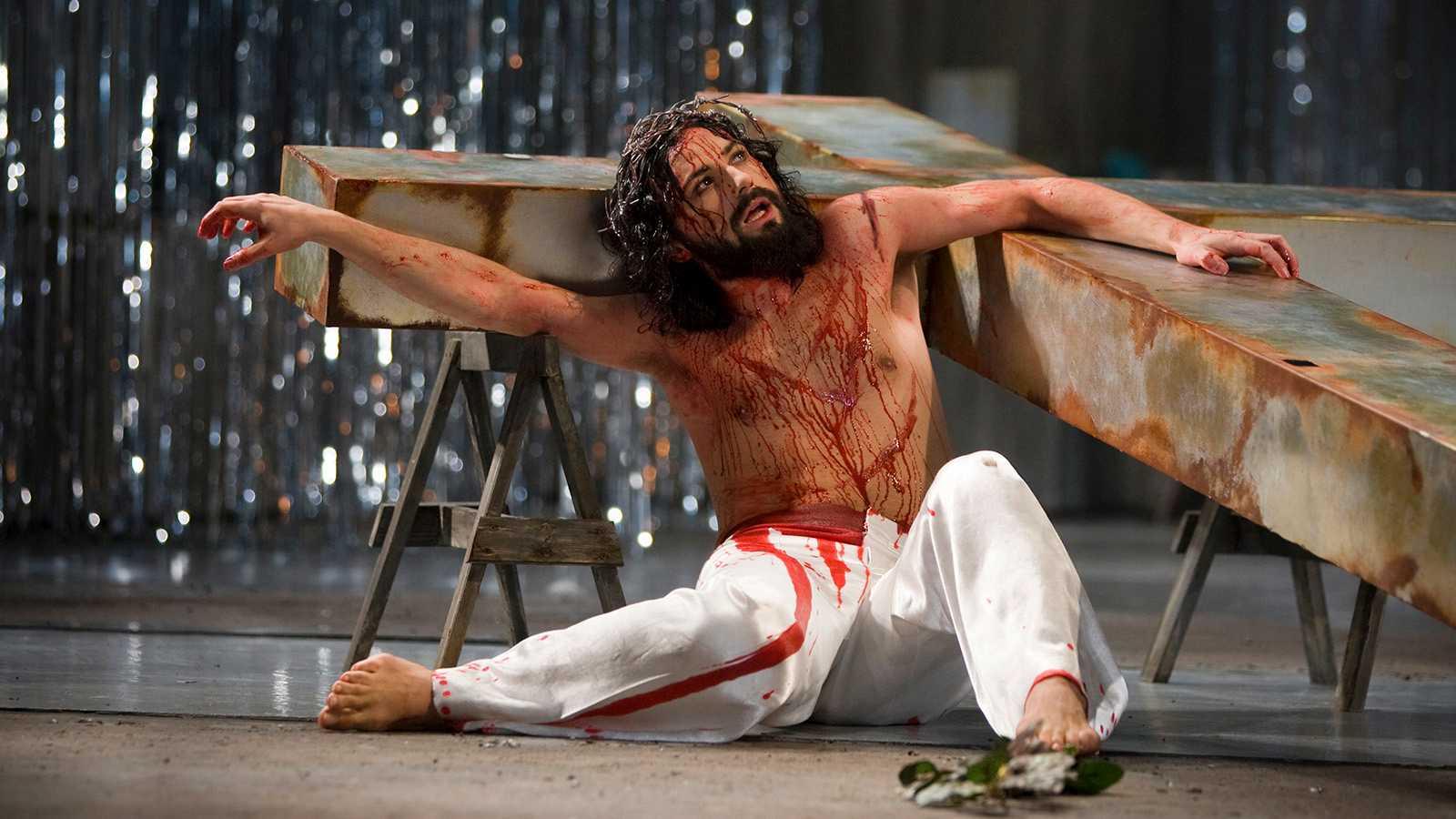 """Ola Salo som Jesus i en tidigare uppsättning av """"Jesus Christ Superstar"""" ."""