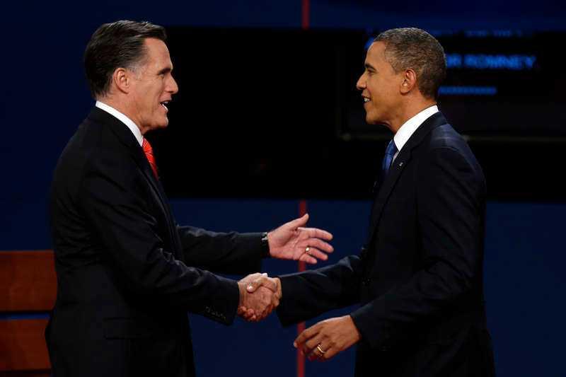 Mitt Romney och Barack Obama.