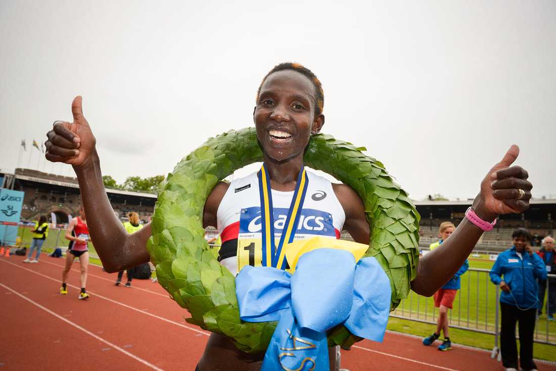 Stockholm marathon 2013. Isabellahs femte vinst i loppet.