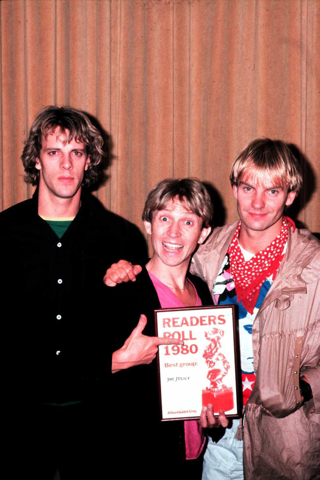 Björnen blev ett...diplom 1980 när The Police med Sting i spetsen fick en rockbjörn.