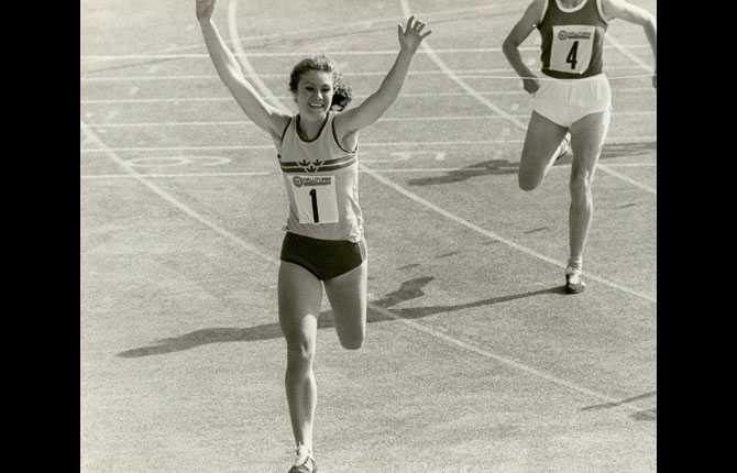 Friidrottslandskamp på stadion 1974. Gren 200m.