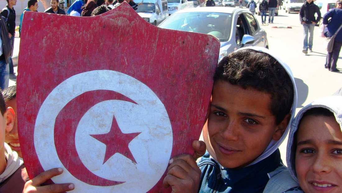 """HOPPFULLT Den tunisiska revolten skildras optimistiskt och segervisst i """"No more fear""""."""
