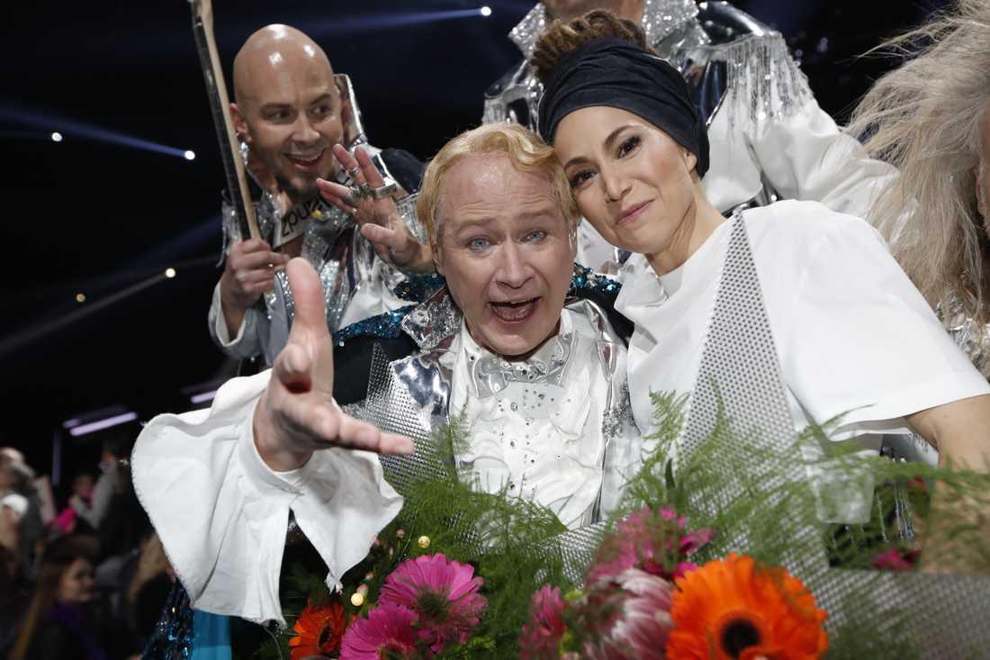 Robert Gustafsson i Rollen som Roland och Mariette var de som gick vidare från fjärde omgågnen va Melodifestivalen.