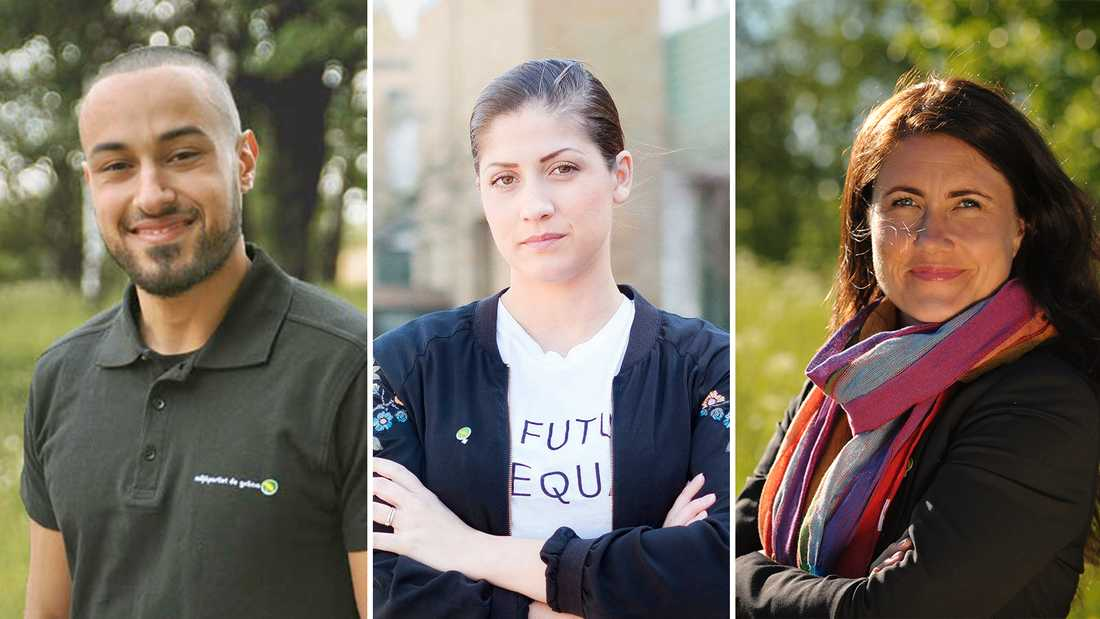 449d6d8654b0 Ali Khalil, Maria Svahn Moraues och Janine Alm Ericson från Miljöpartiet.
