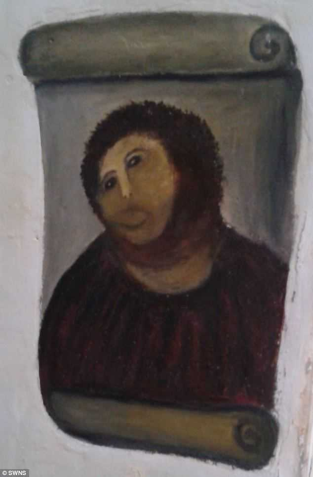 """Den av den 80-åriga kvinnan """"restaurerade"""" tavlan."""