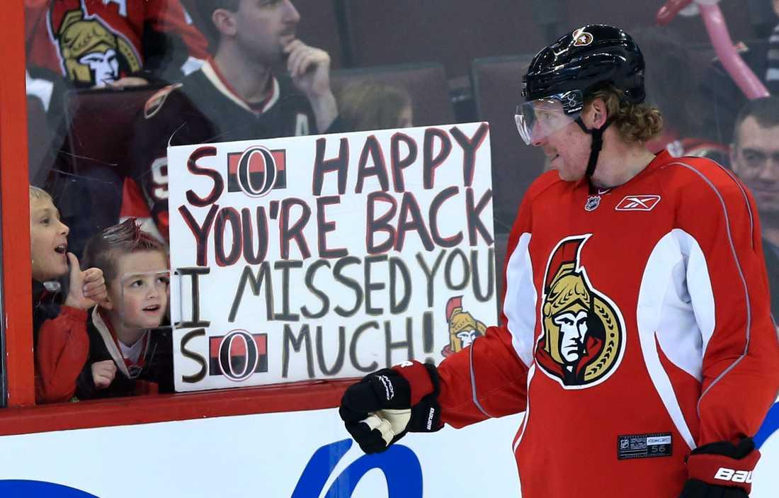 Lagkaptenen Daniel Alfredsson var symbolen för Ottawa Senators.