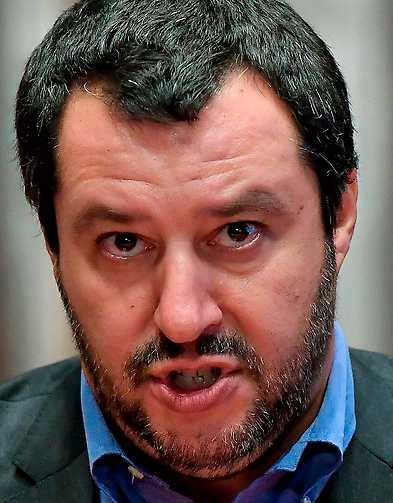 Inrikesminister Matteo Salvini.
