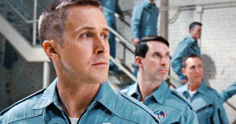 "Ryan Gosling som Neil Armstrong i filmen ""First man""."