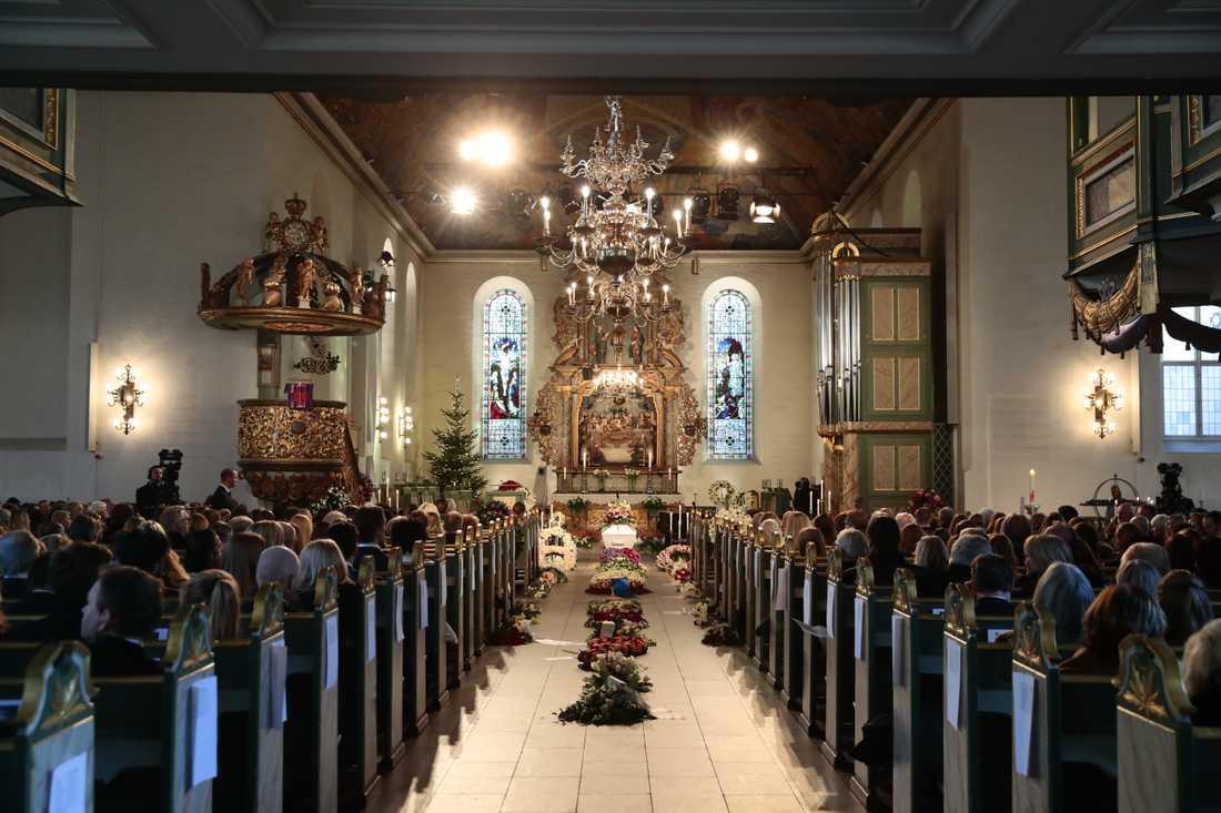 Ari Behns begravning i Oslo domkyrka.