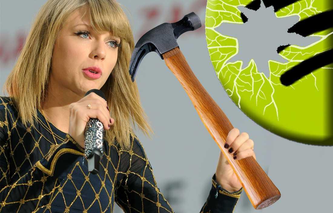Taylor Swift har gjort slut med Spotify. (OBS! Bilden är ett montage!)