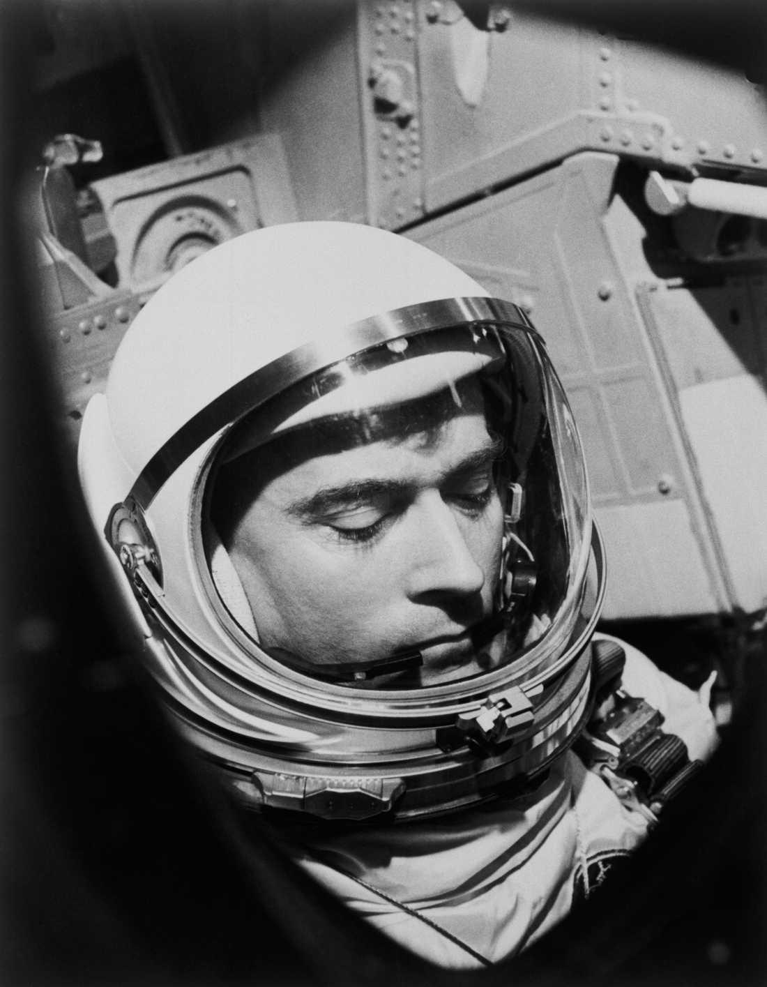 John Young under Gemini 3-uppdraget 1965.
