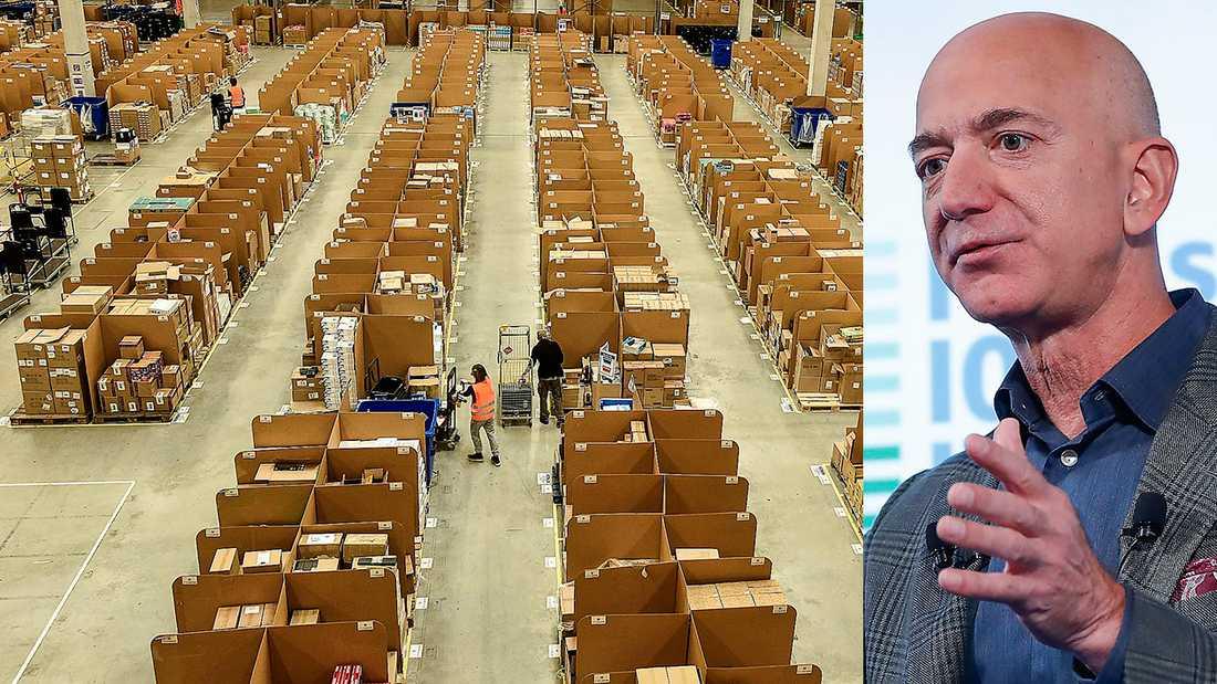 Jeff Bezos Amazon säger nej till kollektivavtal för sina anställda.