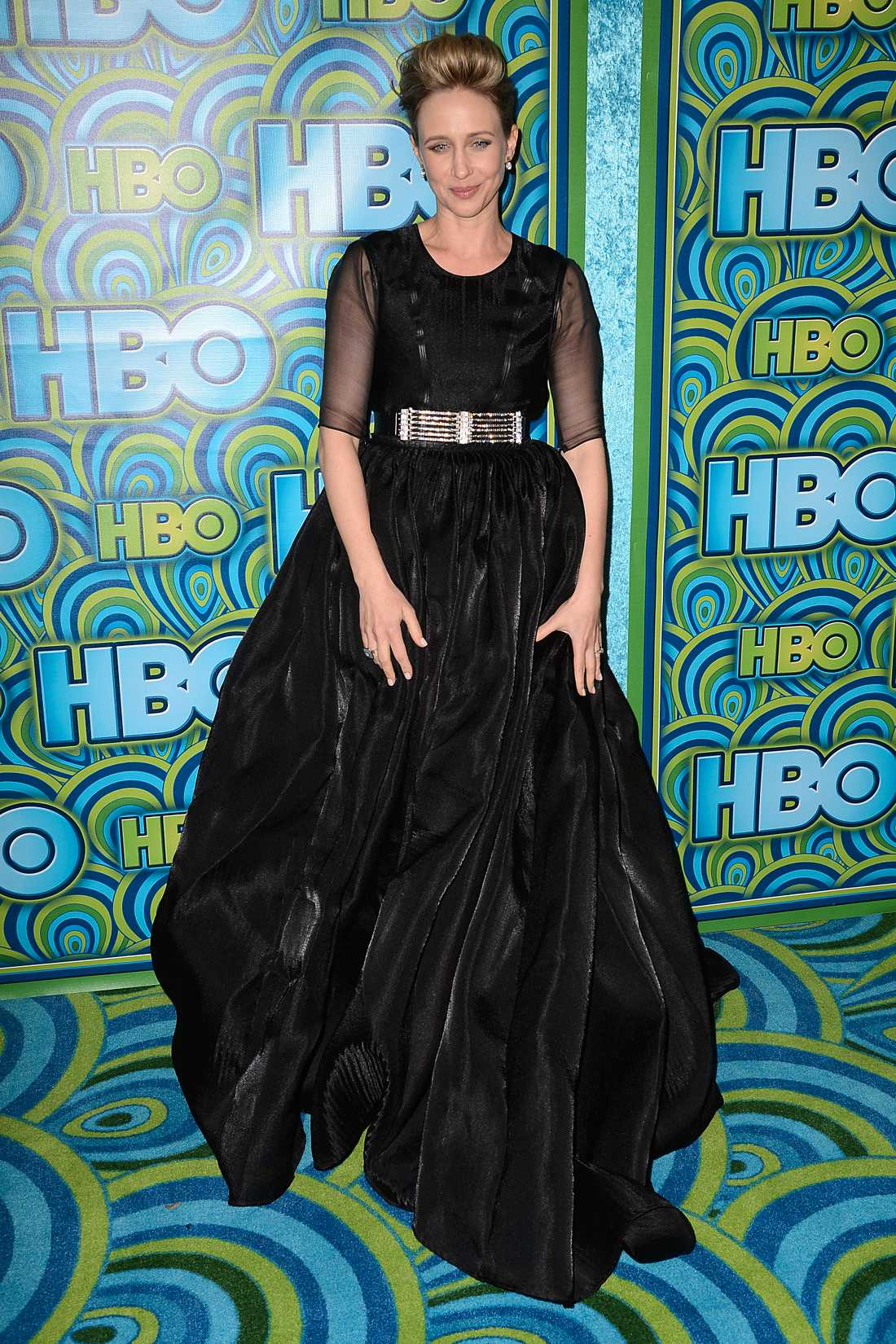 Vera Farmiga Årets Emmys bjöd på en uppsjö svarta galaklänningar, här Theyskens' theory på Vera Farmiga.