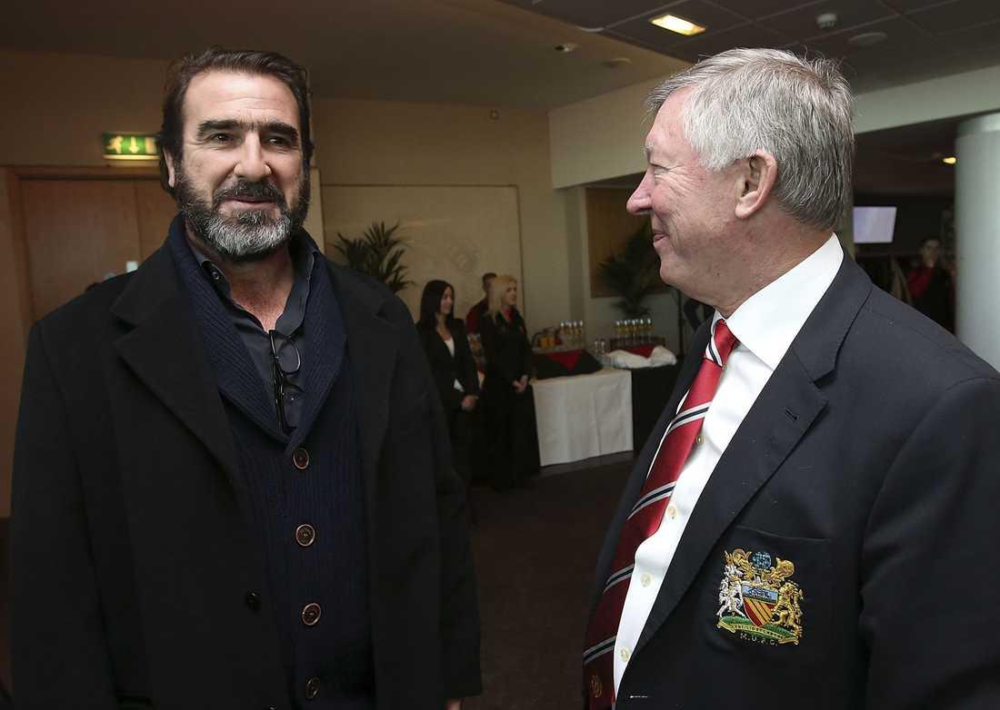 Eric Cantona och Sir Alex.
