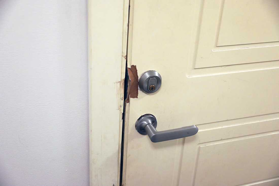 Dörren bröts upp under insatsen.