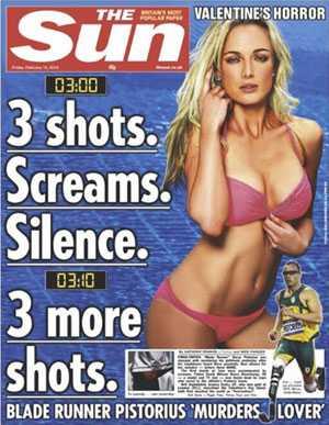 På fredagen såg engelska The Suns framsida ut så här.