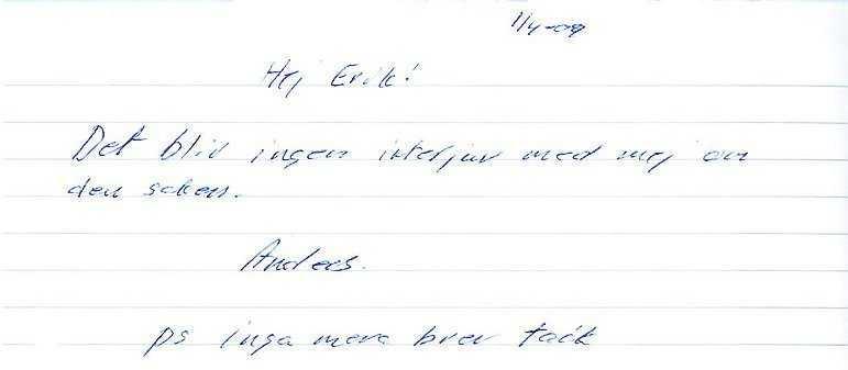 Eklunds korta svar till Eric Tagesson.
