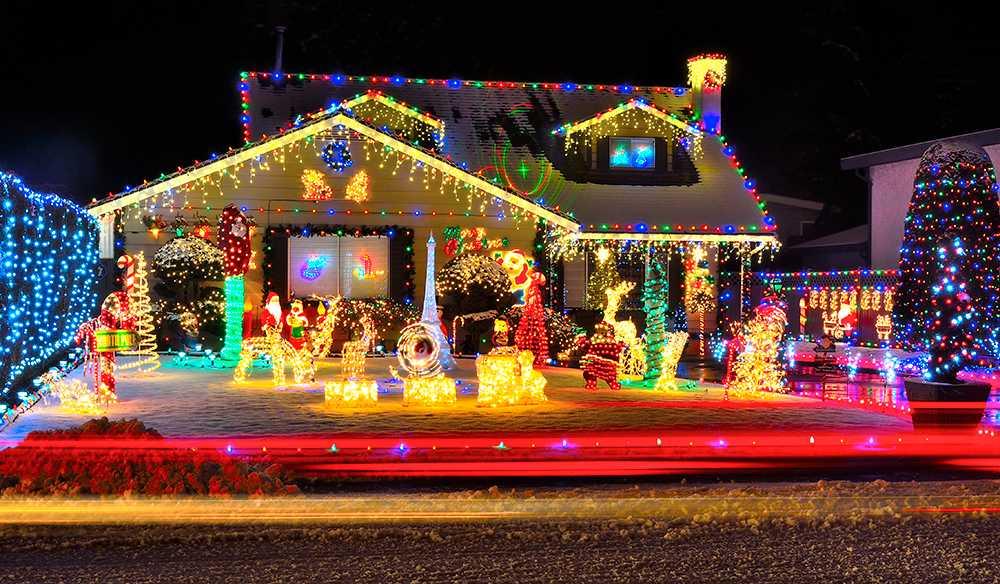 LED-lampor i julbelysningen är betydligt mer effektivt.