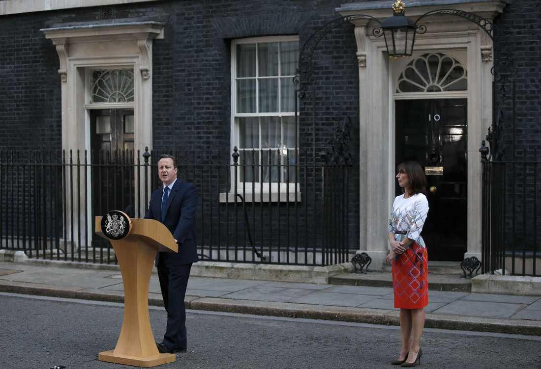Den brittiska premiärministern meddelade sitt besked efter att Storbritannien röstat för att lämna EU.