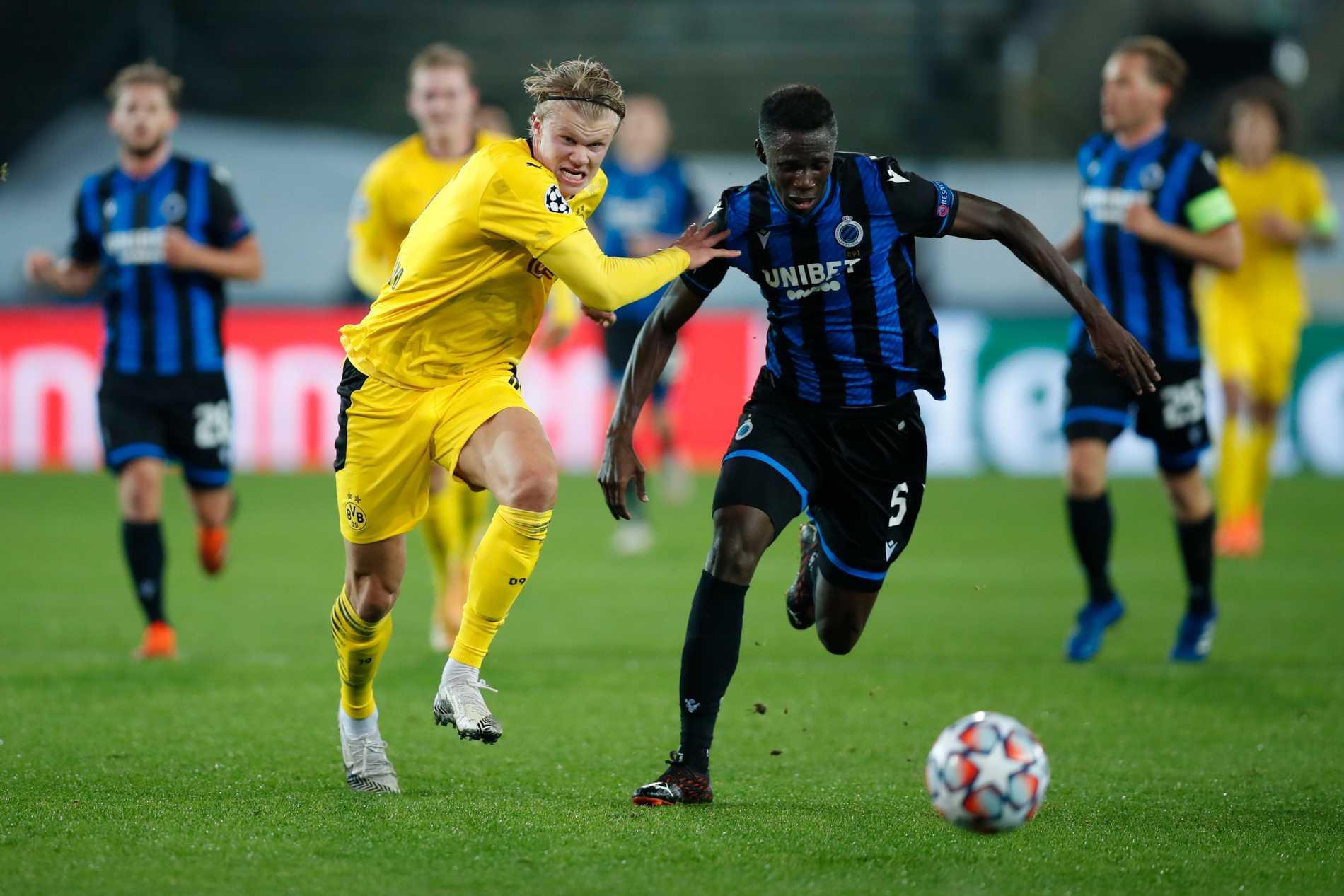 I en Champions League-match mot Dortmund i höstas.