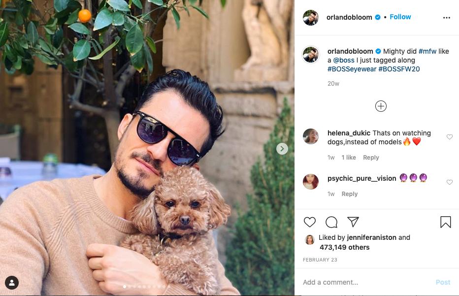 En bild på Bloom och Mighty som han tidigare lagt upp på sin Instagram.