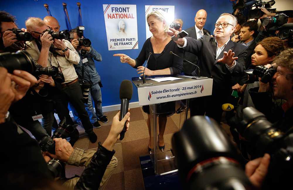 Marine Le Pen skördade stora framgångar i franska EU-valet.