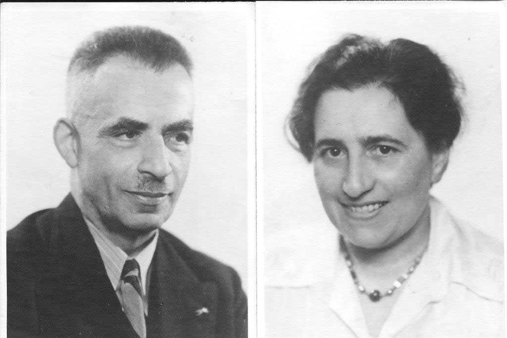 Franz Cohns föräldrar. De mördades av nazisterna.