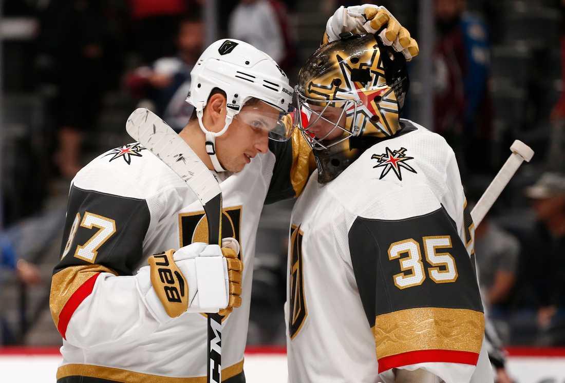 Oscar Dansk (höger) kan få göra NHL-comeback.