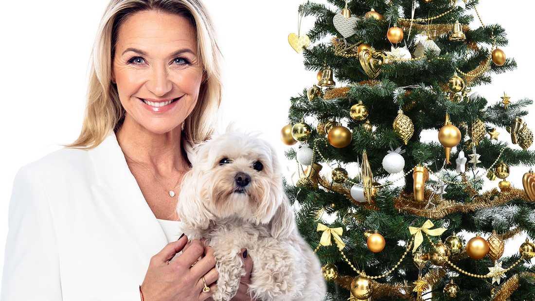 Kristin och hunden Minoo.