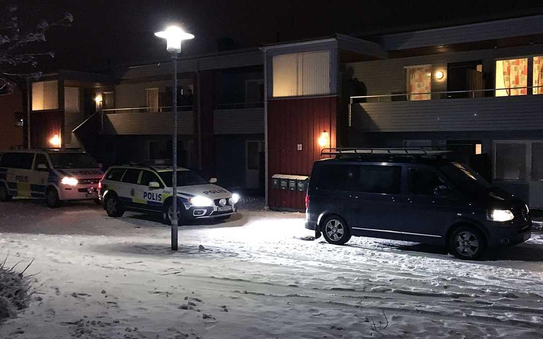 Här hämtades 22-åringen av Säpo. Senare friades han från alla anklagelser.