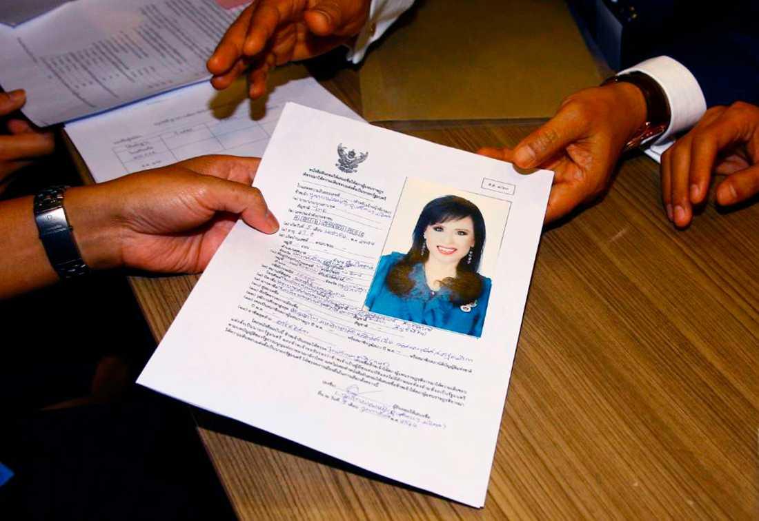 Prinsessan Ubolratanas kandidatur tillkännagavs i februari.