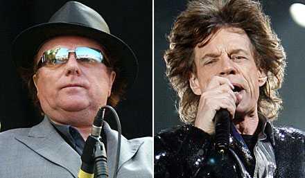 coola farbröder Van Morrison och Mick Jagger delar scen i Göteborg.