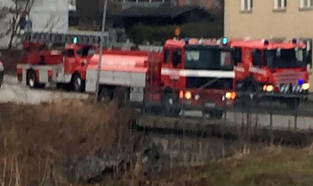 Brandkåren ryckte ut efter larm om brand i en lägenhet i Kopparberg.
